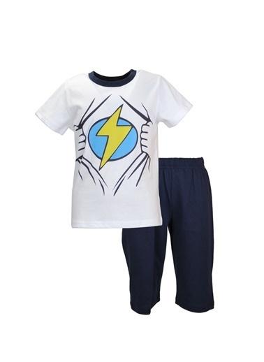 Zeyland Beyaz Super Hero Pijama Takımı (1-8yaş) Beyaz Super Hero Pijama Takımı (1-8yaş) Beyaz